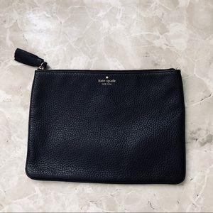 [Kate Spade] Black Leather Clutch